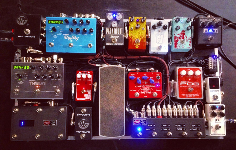 Jefferey Kunde Pedalboard