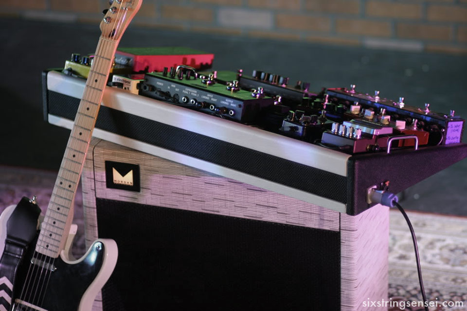 Morgan Amplifier, Fender Telecaster, and Pedalboard