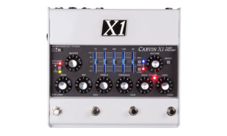 Carvin Unveils the X1 Tube Preamp Pedal
