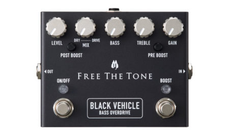 Free the Tone Releases the BV-1V Black Vehicle Bass Overdrive