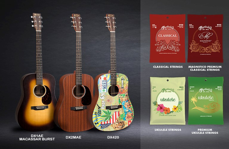 Martin Guitar to Debut Three New X Series Dreadnought Guitars, Along with New Premium Classical and Ukulele Strings at Winter NAMM 2018